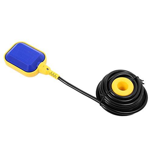 Schwimmerschalter, 5m Kabel 250V 15 (8) A Wasserstandsregler Pumpe Tauchpumpen Pegelschalter Wechsler, Automatisch Einstellbar