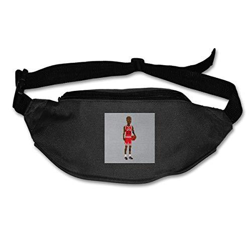 HKUTKUFGU - Riñonera para Mujer, Hombre, Michael Jordan Body Pixel Riñonera Bolsa de Viaje Bolsillo Cartera para Correr, Ciclismo, Senderismo, Entrenamiento