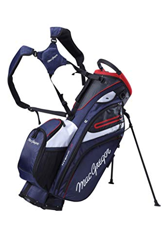 MACGREGOR Men's MACBAG146 Mactec HYBRID 14 Golf Club Stand Carry Trolley Bag, Navy, One Size