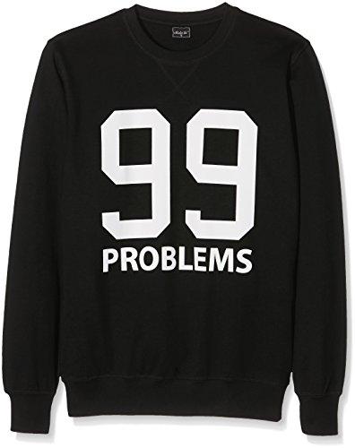 Mister Tee 99 Problems Crewneck Sweatshirt Men's, Black, L