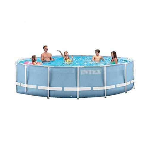 Cadre Piscine Piscine Grande Piscine Domestique Adulte Enfants Parc Aquatique Extérieur Étang À Poissons (Color : Gray, Size : 366 * 76cm)