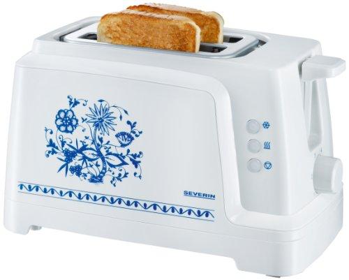 Severin AT 2255 - Tostadora (2 tostadas), color blanco con dibujo