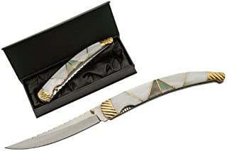 SZCO Supplies Mother of Pearl Folding Knife