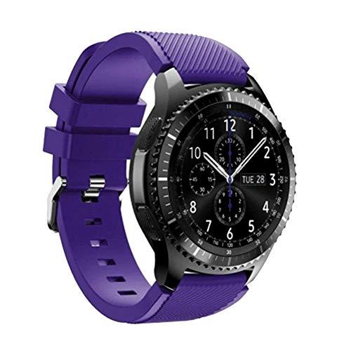 KAISENSHUO Compatible para Galaxy Watch 3 45mm Correa, 22mm Reemplazo de Banda de Silicona Suave Deportiva Pulsera de Repuesto para Gear S3 Frontier/Galaxy Watch 46mm/Huawei Watch GT 46mm Smart Watch