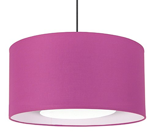 Tosel 14859Alfena 35D colgante tela/algodón/pvc 350x 900mm, Violet/Blanc, 350 x 900 mm