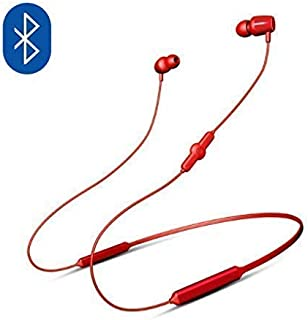 NatoGears 48 Hours Playtime IPX5 Sport Neckband Headphones Earbuds Waterproof Headphones for Sports and Gyms (Red)