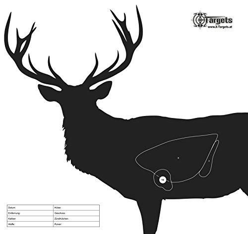 X-Targets Zielscheiben Hirsch / 50x53 cm/Papier 120g/m² (20 Stück)