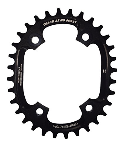 Leonardi Factory Oval Track BCD 96 XT Plato de Bicicleta, Hombre, Negro, 34