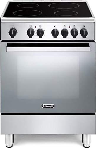 Cucina elettrica con forno elettrico, N° 4 Piastre in vetroceramica, 60x60 cm, colore Inox DMX 64V ED