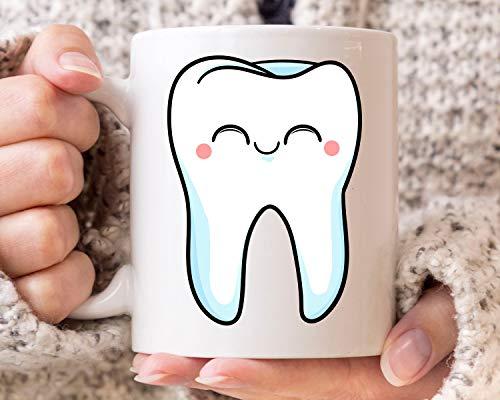 Taza de café de cerámica para dentista, para dentista, hombres y mujeres, bonita idea de regalo para dentista, taza de café para futuro dentista de 325 ml