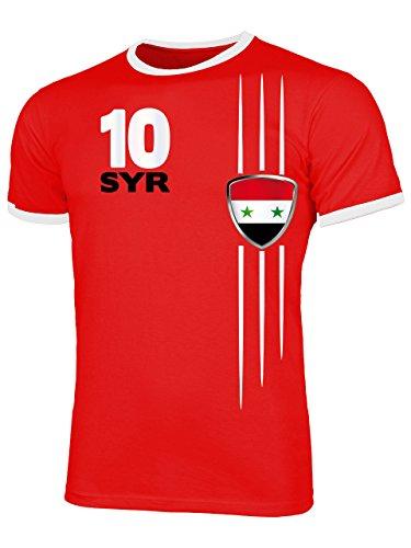 Syrien Syria Fanshirt Fussball Fußball Trikot Look Jersey Herren Männer Ringer Tee t Shirt Tshirt t-Shirt Fan Fanartikel Outfit Bekleidung Oberteil Hemd Artikel