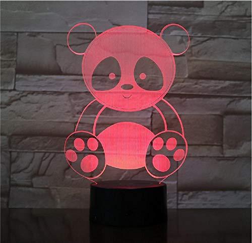 Leuke Panda Design Led-nachtlampje, acryl, meerdere kleuren, leuke cadeau, voor kleuren, decoratie, cadeau, kinderen, thuis, decoratie, afstandsbediening, bluetooth-besturingskleur