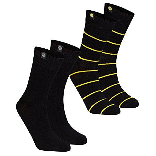 Borussia Dortmund BVB-Socken (schwarz, 2er-Set) 02