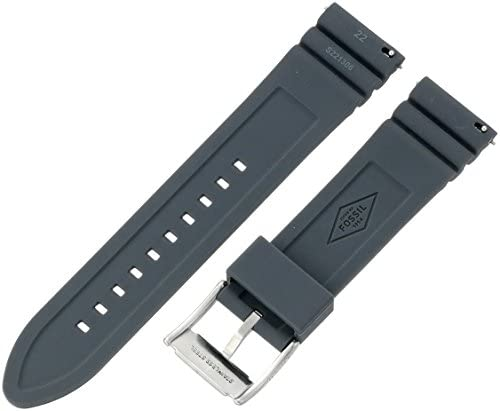 Fossil Silicone and Stainless Steel Interchangeable Watch Band Strap WeeklyReviewer