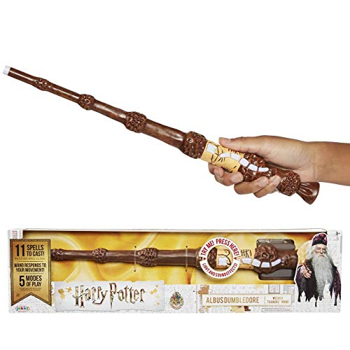 Jakks Pacific- Harry Potter-Bacchetta Magica interattiva di Silente, Multicolore, 73212