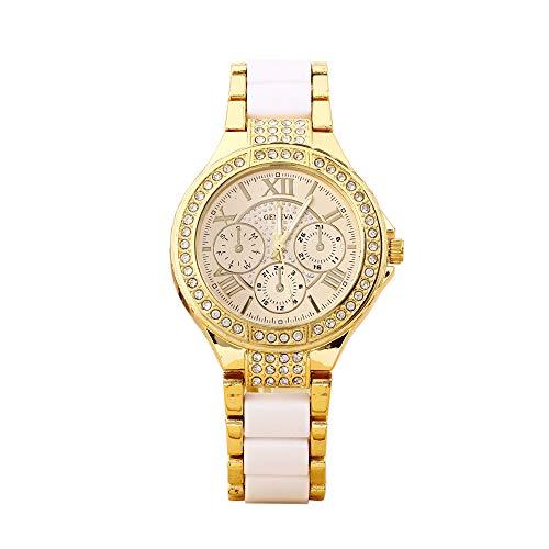 Unisex Quartz Wrist Watch, Bling Crystal Analog Geneva Classic Watch / 2018 Stainless Steel Rhinestone Leisure Metal Bracelet Wristband for Men & Women