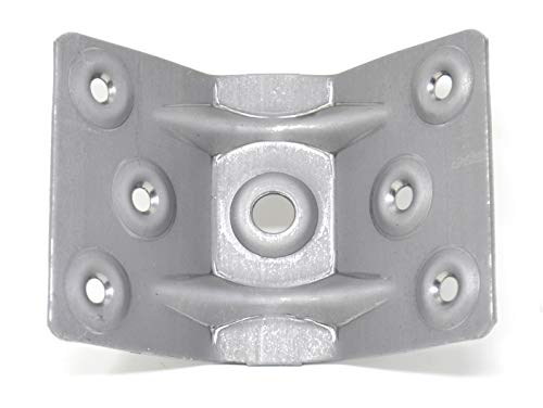 Design61 Juego de 4 herrajes angulados para patas de mesa (acero, 96 x 70 mm)