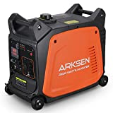 Arksen 2800W Super Quiet Portable Gas-Powered Inverter Generator With Remote Electric Start - USB Outlet & Parallel Capability, CARB EPA Compliant