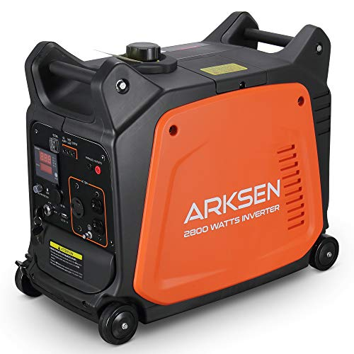 Arksen 2800W Super Quiet Portable Gas-Powered Inverter Generator With Remote Electric Start - USB Outlet & Parallel Capability, CARB EPA Compliant Generators