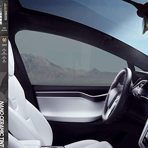 "MotoShield Pro Premium Professional 2mil Ceramic Window Tint Film for Auto | Reduce Infrared Heat & Block UV by 99% - 35% VLT (20"" in x 5' ft Roll)"