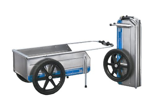 Aluminum Folding dock cart with pneumatic wheels for boats