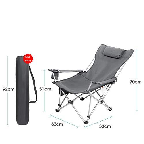 WMQ Silla de Director Plegable con Estructura de Acero compacta, Silla de Camping portátil (para Adultos y niños) con Mesa Auxiliar (Asiento, sillón reclinable)
