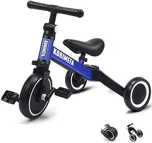 KORIMEFA 3 in 1 Kids Tricycle for 2 Year Old Trike Toddlers Bikes 2 3...