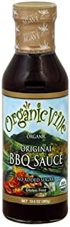 OrganicVille Original BBQ Sauce 13.5 oz (Pack of 3)