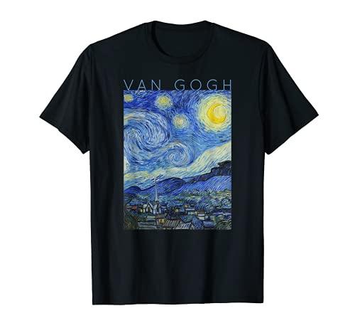 ゴッホ星月夜アーティストギフト女性と男性6 Tシャツ