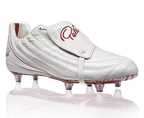 Pelé Sports Men's Football Boots - Botas de fútbol para Hombre PELÉ 1970 6SG MS (White/Red, Numeric_43)
