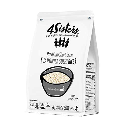 4Sisters - Authentic Short Grain Japonica Sushi Rice - Sustainably Grown - Women Owned - Farm to...