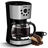 Geepas 1.5L Filter Coffee Machine| Boil-Dry Protection, Anti-Drip Function, Automatic Turn-Off Feature (Digital) – 2 Year Warranty