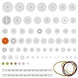 Quimat 75 Tipos de Engranaje Plástico para Bricolaje de Modelos/Robot / Caja de Cambios QY12