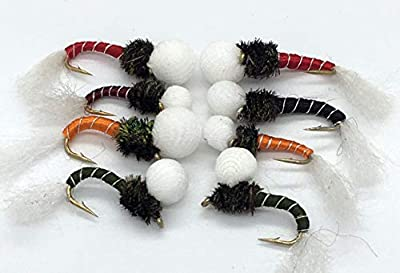 Fly Fishing PolyHead Suspender Buzzers Set Eight (8) flies for fly fishing for trout #91 from BestCity