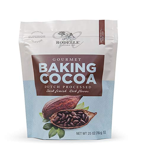 Rodelle Dutch Processed Gourmet Baking Cocoa Powder, 25 Oz, Resealable Bag, Rich Flavor, Dark Finish