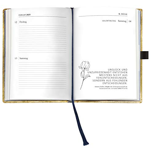Brigitte Goldkalender 2021 - Buchkalender - Taschenkalender - Lifestyle - 10x14
