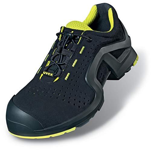 Uvex 1 X-tended Support Zapato Profesional de Seguridad S1 P SRC | Zapatilla Deportiva de Trabajo | Punta Antiaplastamiento de Composite | Negro