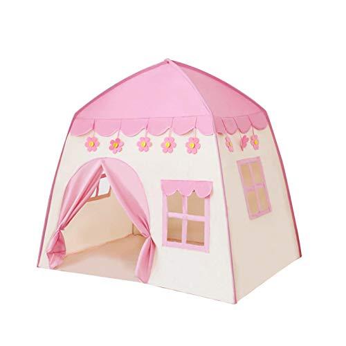 Tienda de campaña de juegos de castillo de princesa, para niñas, juguete para niños, castillo de princesa, regalo de cumpleaños para niños pequeños, juegos en interiores y exteriores