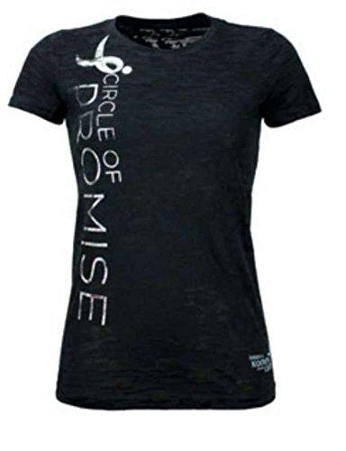 Susan G. Komen Circle of Promise Women's Burn Out T-Shirt, Black. KOMELT0078