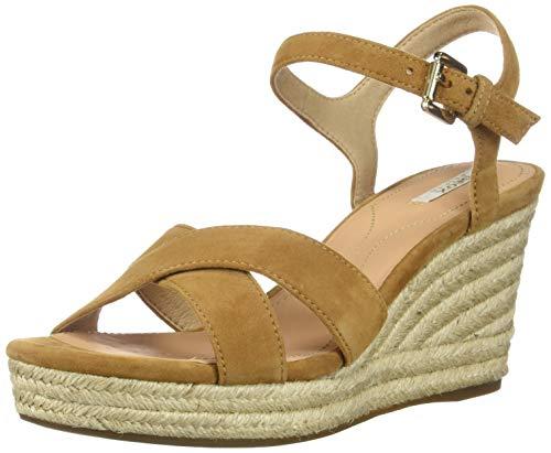 Geox Damen D Soleil A Wedge Sandal, Curry