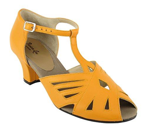 Rumpf Premium Line 9232 Damen Swing Ballroom Lindy Hop Tanz Schuhe Absatz 5 cm orange, Orange, 37 EU