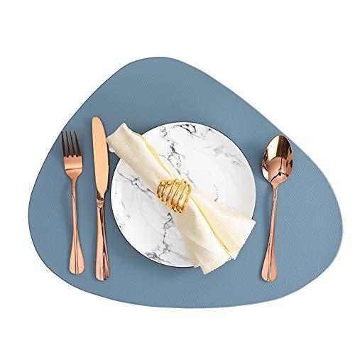 縦断勾配 Sets De Table Cuir 4pcs en Vinyle Résistants À La Chaleur, Lavables, Plastique,30x45cm 1204 (Color : Blue)