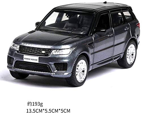 Model auto's 1:36 Diecast Car Model Rover Range Rover Metal Car Wheels Simulation Pull Back Car Collection Kinder Gift dljyy ( Color : Grey )