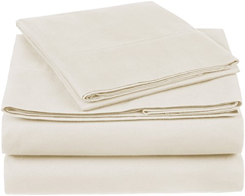 Pinzon 300 Thread Count Organic Cotton Bed Sheet Set - Twin XL, Natural