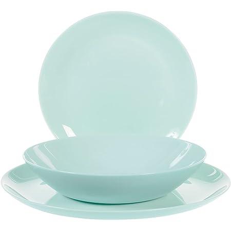 Luminarc 0883314737066 Service de Table 18 pièces Diwali Light Turquoise