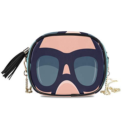 Cool Pig Gafas de sol Icon Piggy Head Bolso bandolera de noche para mujer para mujer Bolso de fiesta formal para mujer Bolsos y carteras para mujer Decoración para niñas Bolso pequeño cruzado 7.48x5