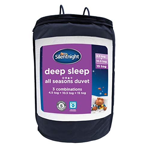 Silentnight Deep Sleep All Seasons Duvet, 4.5 + 10.5 tog, Single, White, 135 x 200cm