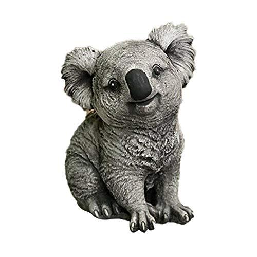 Gartenstatuen Statue Deko Koala-Statue Cartoon Tierharz Koala Skulptur freche Skulptur Hof im Freien Statue Garten Home Decor, Yard Statuen, Für Outdoor Home Yard Garden Lawn Veranda Dekor