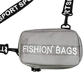 Docooler Women Men Crossbody Bag Chest Bag Letters Print Nylon Durable Street Sporty Casual Shoulder Bag