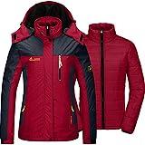 MOERDENG Women's Waterproof Ski Jacket Warm...